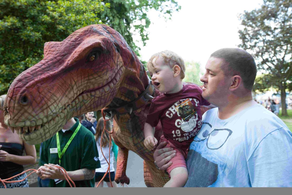Marwell Zoo throws sunset party including dinosaur exhibit
