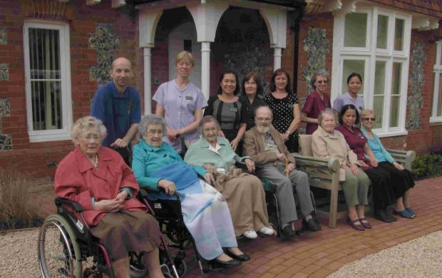 Residents and staff from the Oak Lodge nursing home