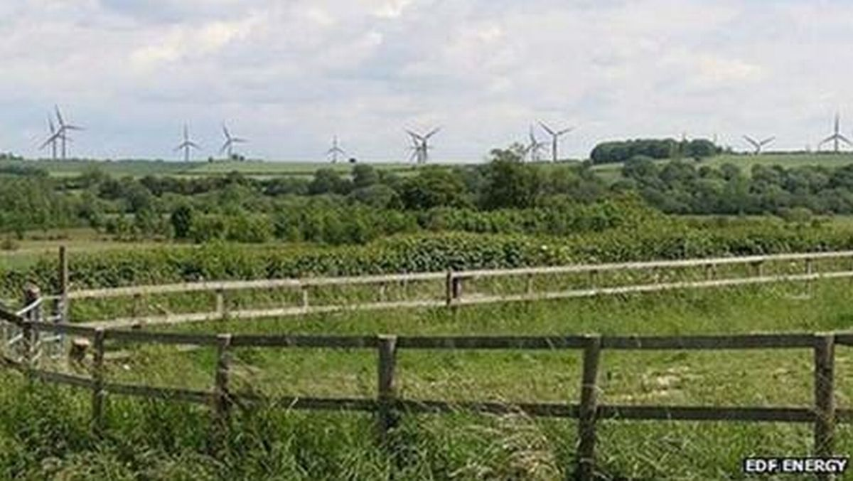 The proposed wind farm at Bullington Cross.