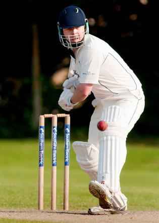 Overton batsman Henry Deacon in action against Andover