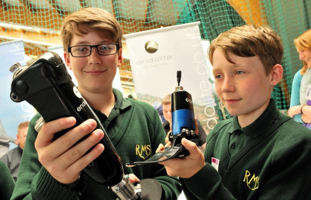 Basingstoke Gazette: Rory O'Ceallaigh, 13, and Morten Vanderschee, 12, from Robert May's School, Odiham