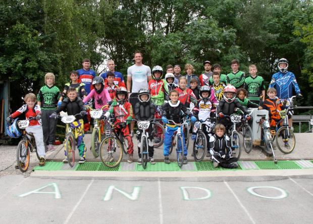 Masters champ visits town BMX