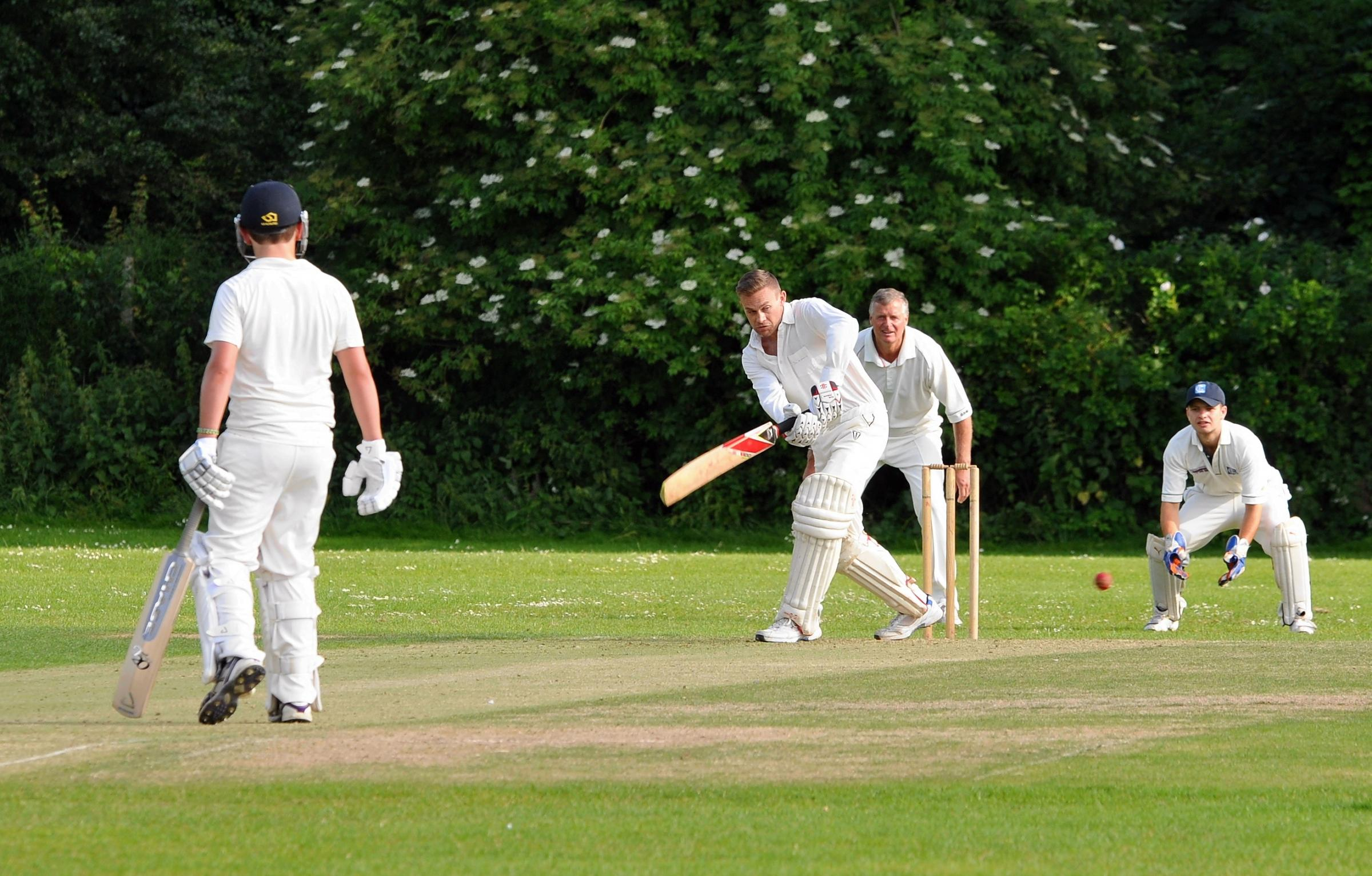 John Anthony batting for Basingstoke IV in their match against Longparish