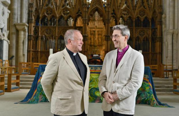 Right Reverend Tim Dakin and The Reverend Canon David Williams