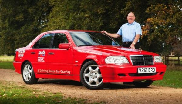 Richard Phillips and the car he will drive in the charity rally