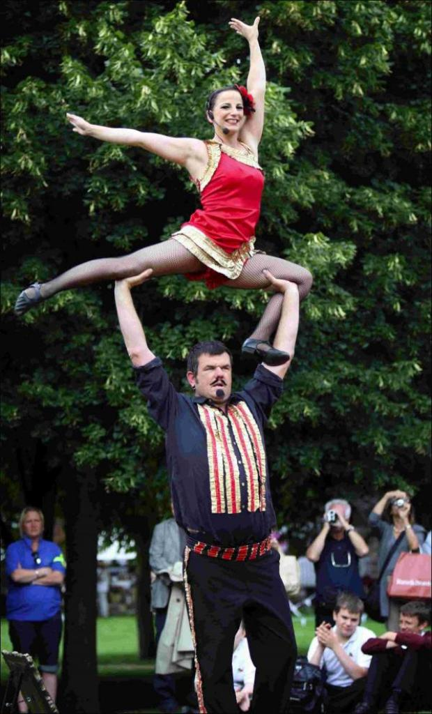 Basingstoke Gazette: Street entertainers at the annual Hat Fair