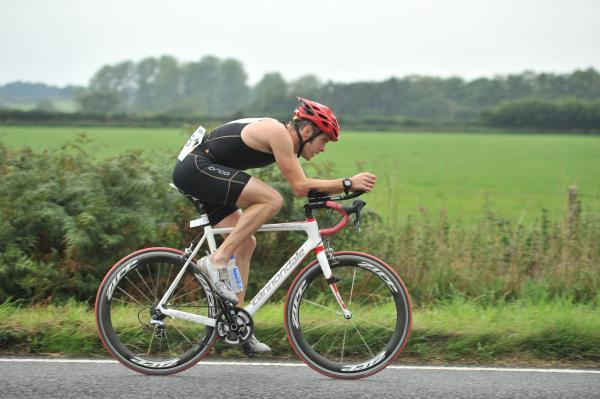 Gareth Sylvester-Bradley in cycling action