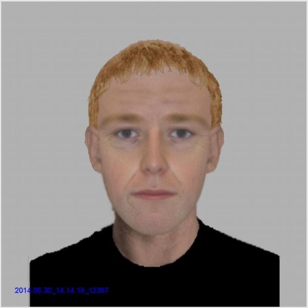 An efit image of a man police want to speak to about the distraction burglary