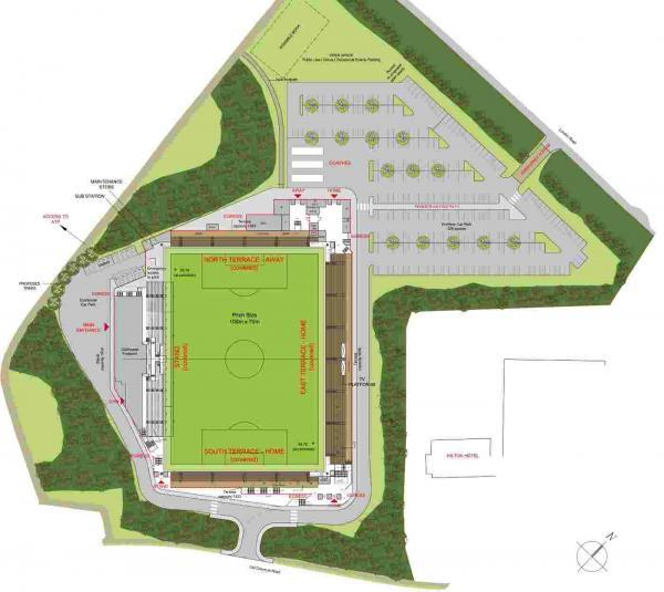Plans for Basingstoke Town's new stadium on Old Common