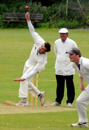 Nathan Young took for wickets for Wherwell on Saturday