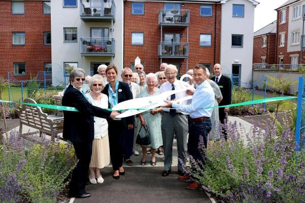 Celebrity gardener Chris Beardshaw opens Emma Court and Lady Susan Court