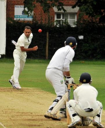 Matt Thankachan in action during Basingstoke's defeat to Sarisbury
