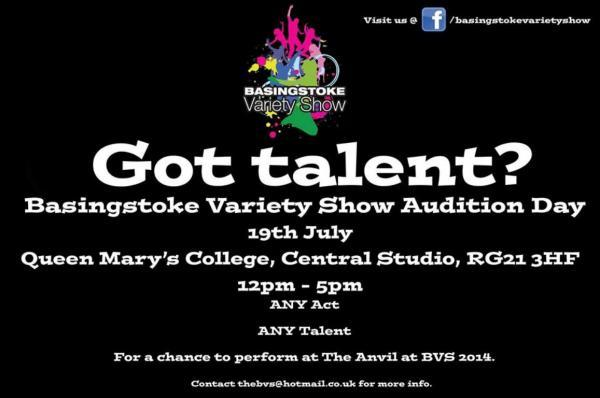 First open auditions for Basingstoke Variety Show to take place this month