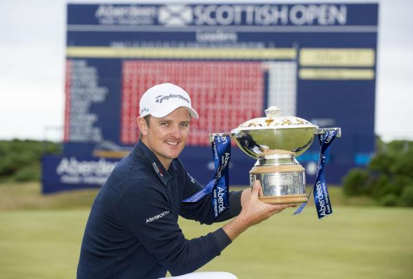 Justin Rose with the Scottish Open trophy