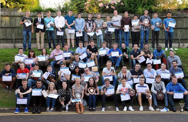 Students at BCoT's STEM awards evening