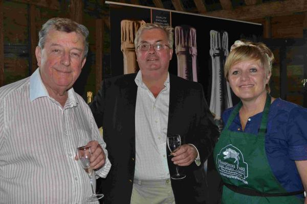 Lord Wakeham, Simon Robinson, of Hattingley Valley Wines, and Tracy Nash of Hampshire Fare