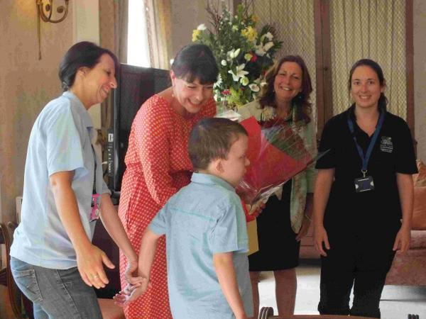 The family gathered with Connor at a small ceremony at Sutton Manor Nursing Home.