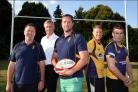 Changing times at Down Grange (l-r): Skills coach Niall Catlin, chairman Steve Tristram, head coach Will Croker, and coaches Gavin Hart and Ben Stewart