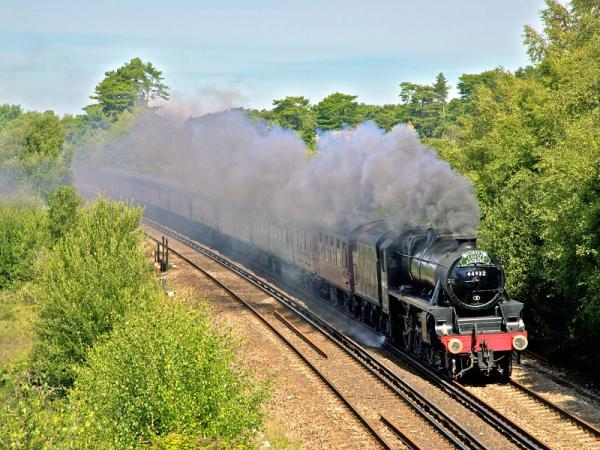 Black 5 No  44932 is scheduled to haul The Dorset Coast Express on Wednesday
