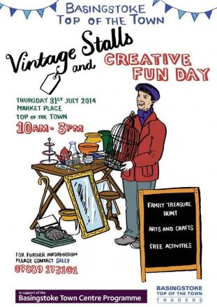 Don't miss the Top of The Town's Vintage Stalls and Creative Fun Day