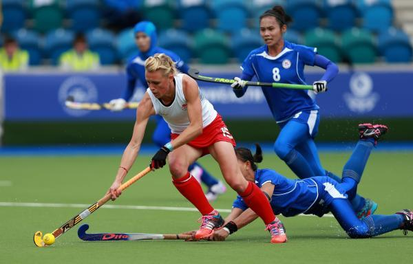 Alex Danson in action during the Commonwealth Games