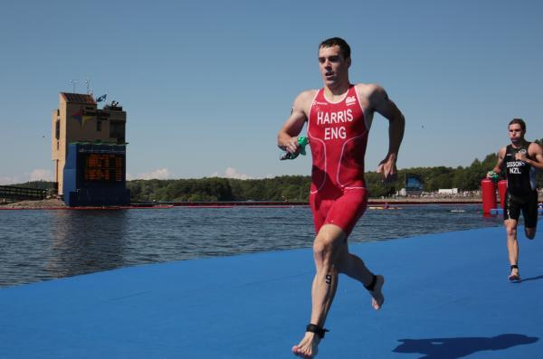 Aaron Harris in action at the Commonwealth Games