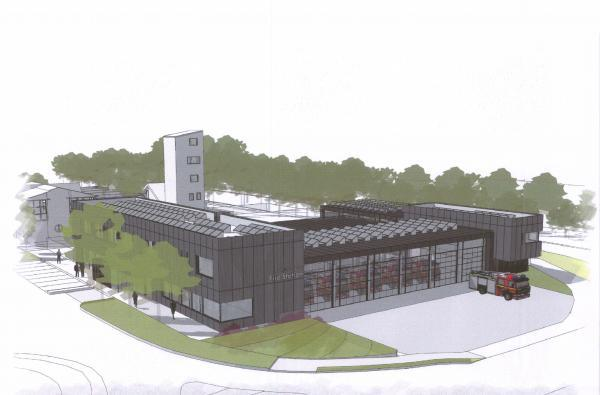Artist's impression shows the vision for the new fire station