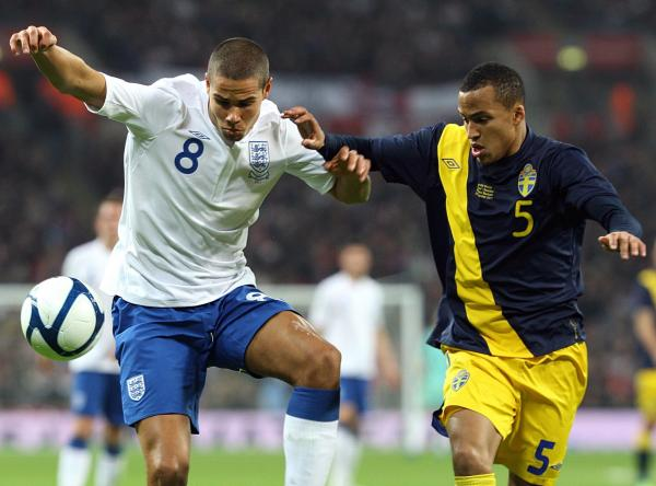 Man City midfielder and rumoured Saints target Jack Rodwell in action for England against Sweden