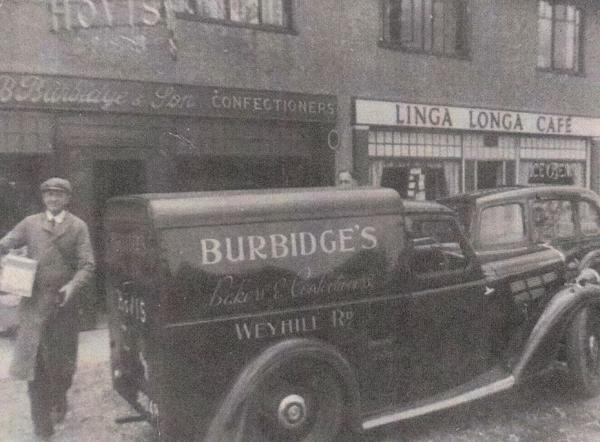 Burbidges Bakery, the venue for the August meeting of the Andover Wine Circle. Photo circa 1940 from the David Howard collection.