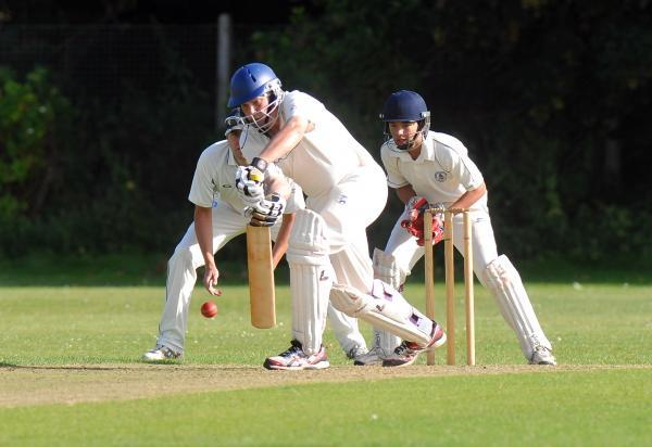 Dave Simpson on his way to a match-winning knock of 72 for Ramsdell
