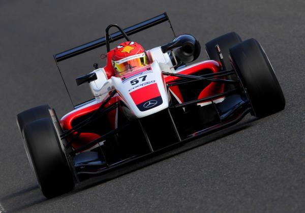 Martin Cao leads the points table in Formula 3