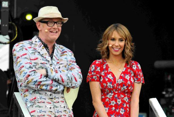 Chris Evans and Alex Jones host The One Show at last year's CarFest