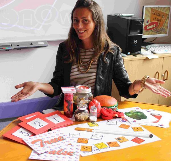 Schools co-ordinator Sharron Bright prepares a healthy heart lesson