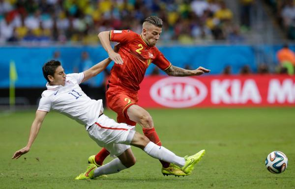 Toby Alderweireld in action for Belgium during the World Cup