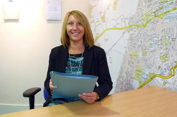 Kim Smith, branch manager of Leaders, in Winchester Street, Basingstoke