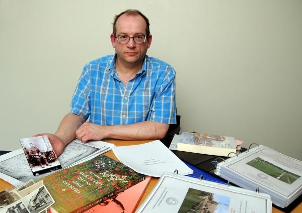 David Stewart has researched the backgrounds of those honoured on the Basingstoke war memorial