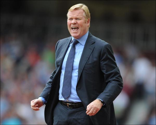Ronald Koeman at Upton Park today.