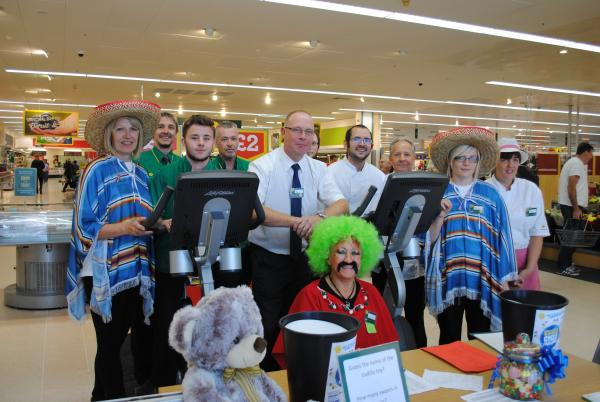 Staff from Morrisons, in Basingstoke, took part in a two-day cycle to raise money for Sue