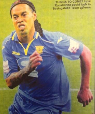How Ronaldinho could look in Basingstoke Town colours