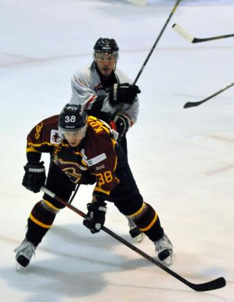 Bison player/coach Doug Sheppard in action against Guildford last season