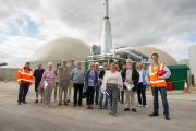 Visitors at the Tamar Energy anaerobic digester