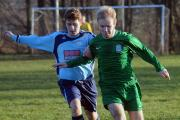 Action from the game between Winklebury Wizards (blue) and Overton United B