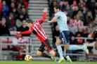 Sunderland's Adam Johnson goes down to win his side a penalty against West Ham