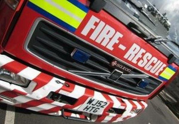 Wire fire causes powercut