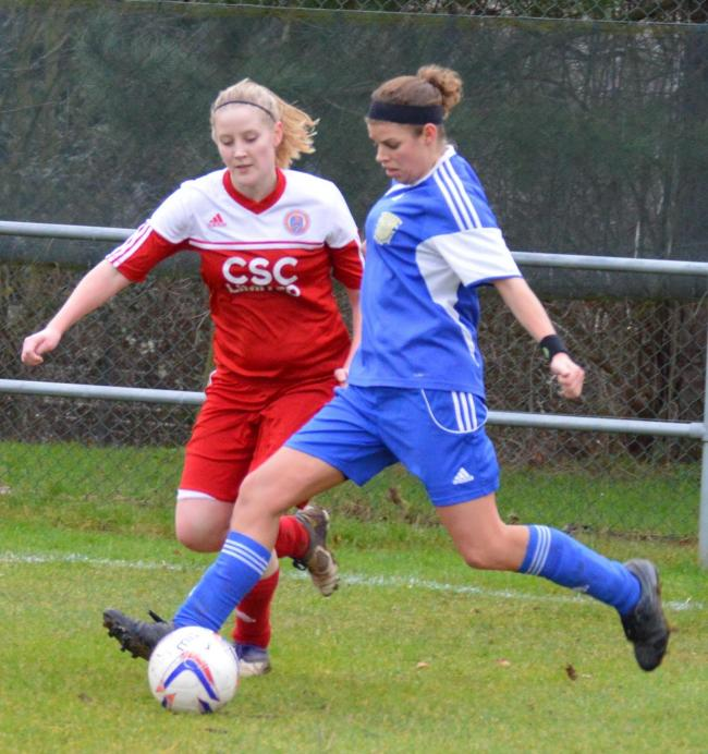 Katie Randell opened the scoring for Basingstoke Town Ladies in their big win