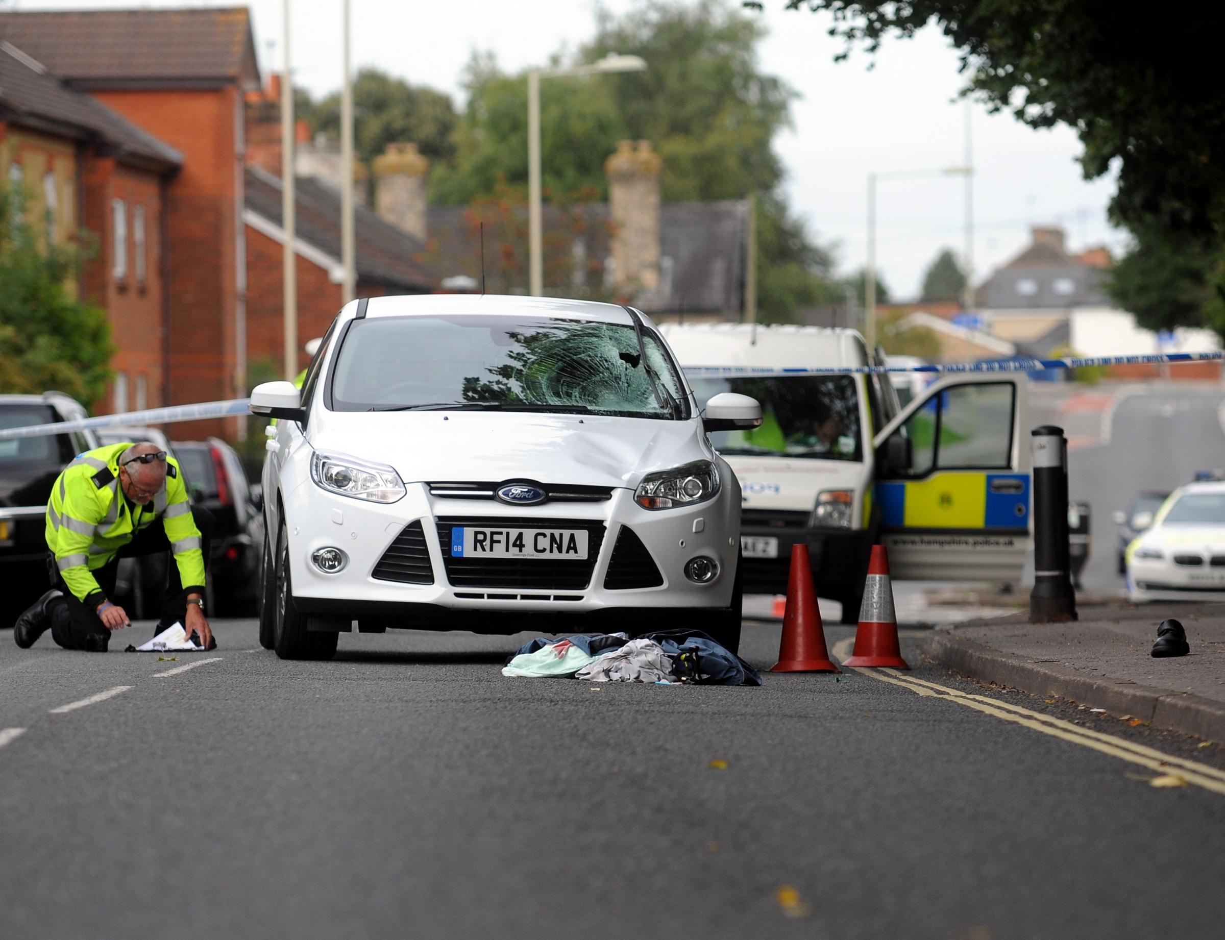 The fatal crash in Worting Road