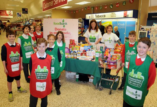 Tesco Trolley Dash For Basingstoke Foodbank Basingstoke