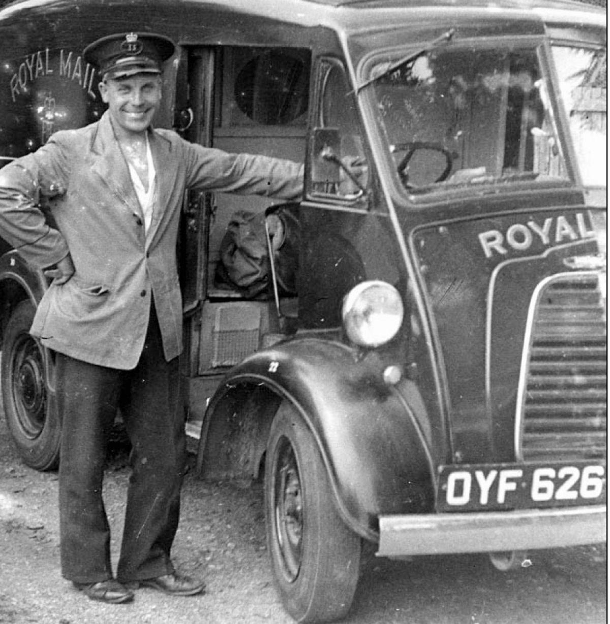 One of the local post vans in the 1950s