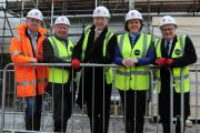 From left, Rooksdown Community Centre development manager Simon Bound, Cllr Stephen Reid, Hampshire County Councillor for Basingstoke North West, headteacher John Martin, Basingstoke MP Maria Miller and Cllr Peter Edgar, executive member for education