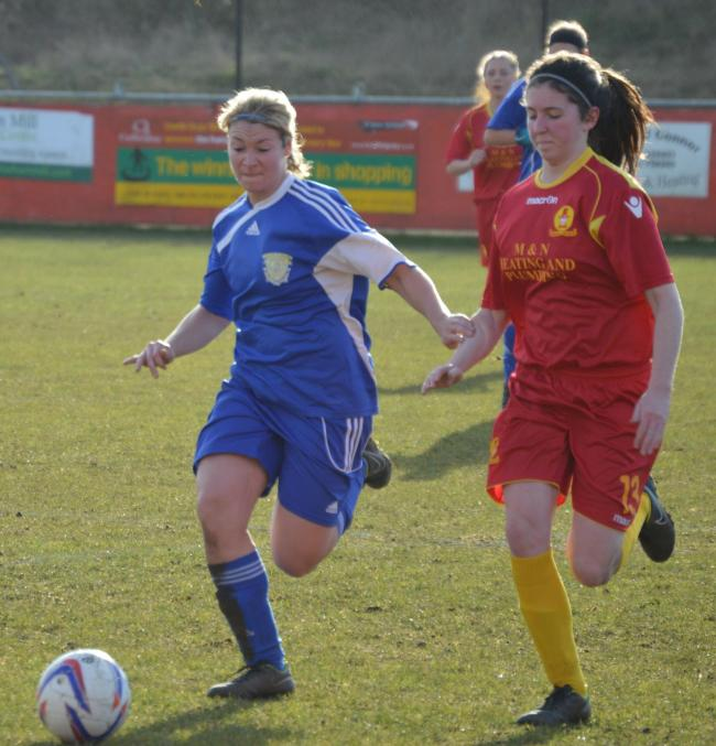 Town's Lianne Hill in action against Oxford City